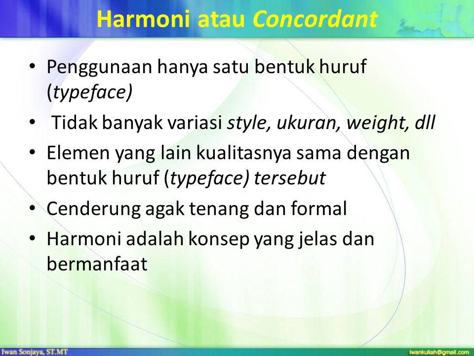 Harmoni atau Concordant