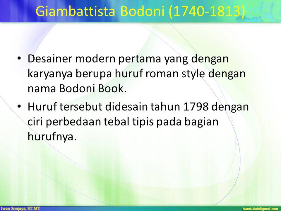 Giambattista Bodoni (1740-1813)