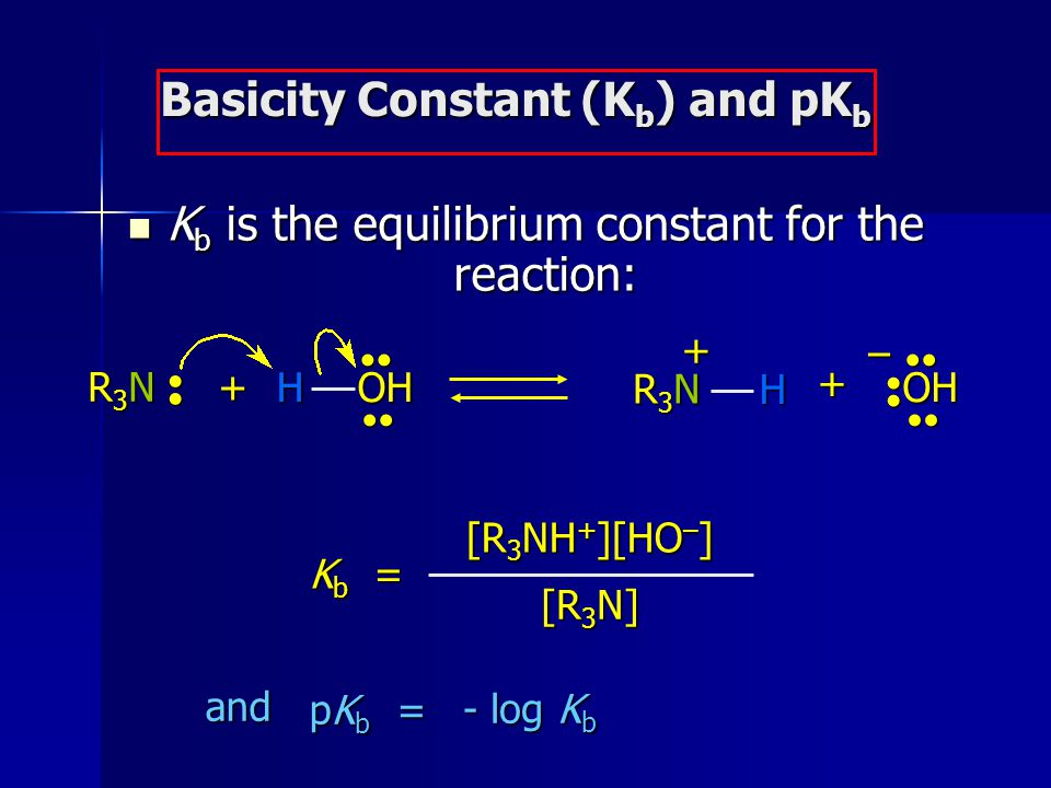 Basicity Constant (Kb) and pKb