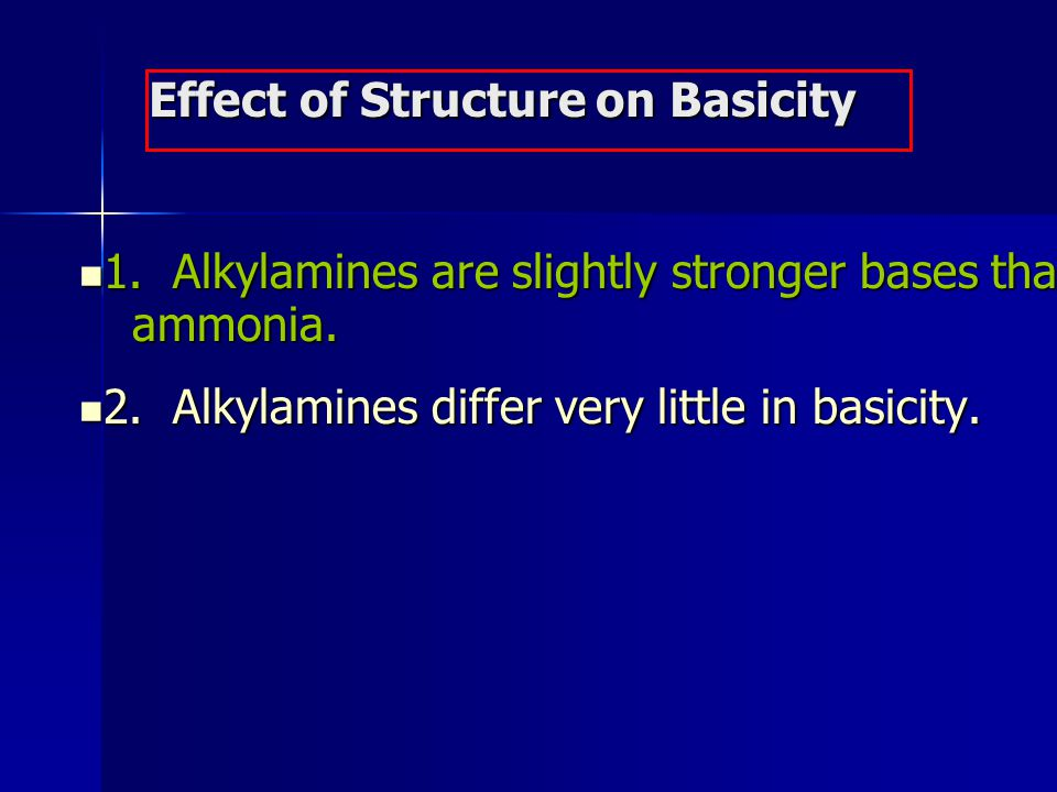 Effect of Structure on Basicity