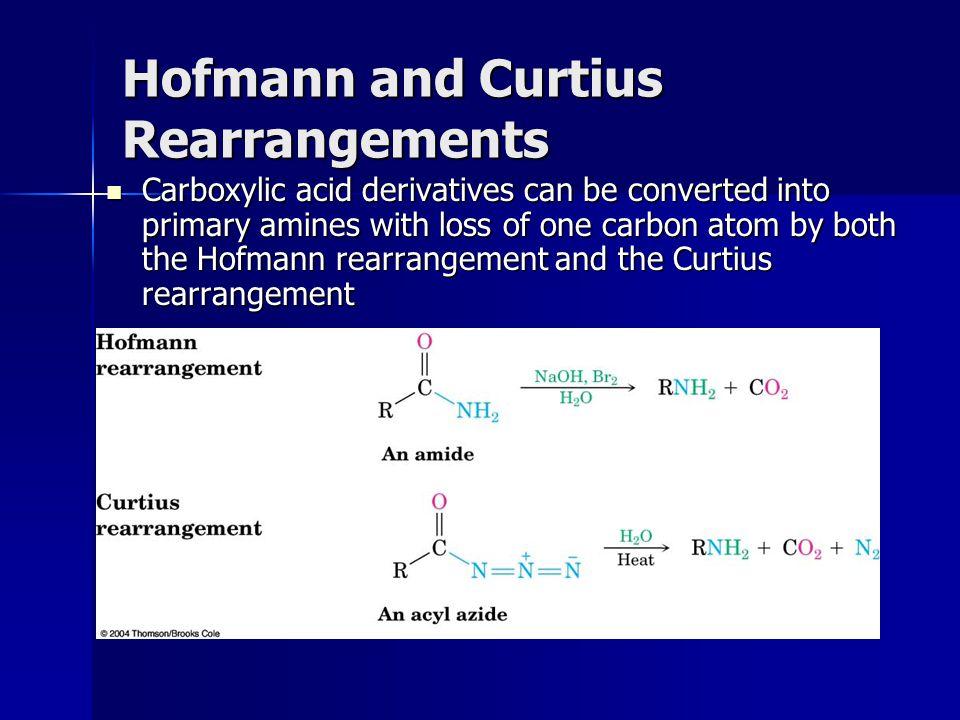 Hofmann and Curtius Rearrangements