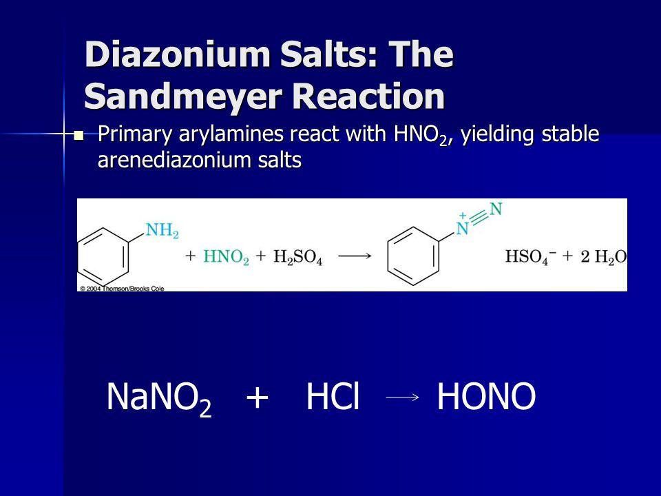 Diazonium Salts: The Sandmeyer Reaction
