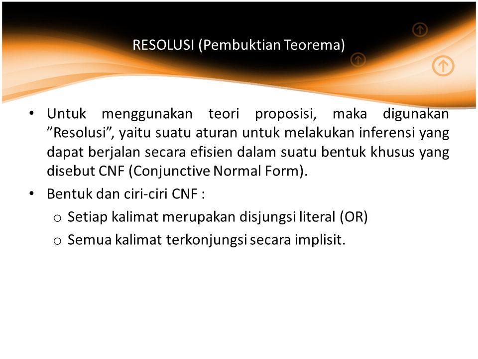 RESOLUSI (Pembuktian Teorema)