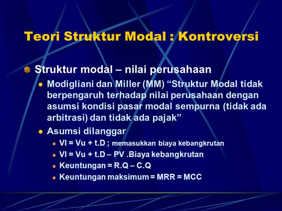 Teori Struktur Modal : Kontroversi