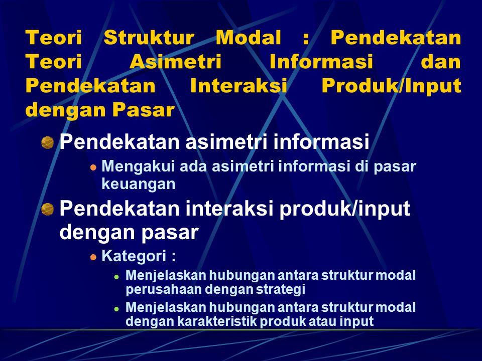 Pendekatan asimetri informasi