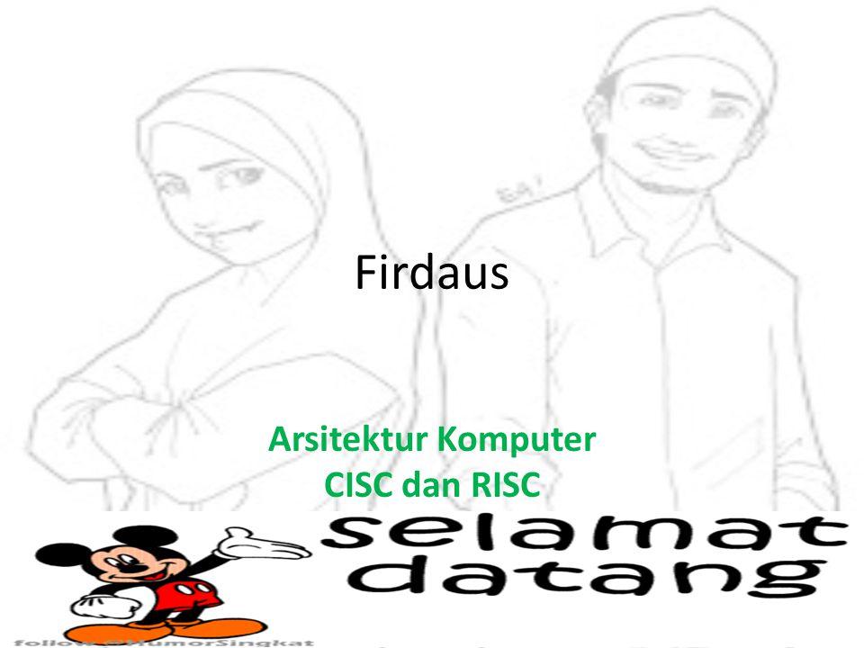 Arsitektur Komputer CISC dan RISC