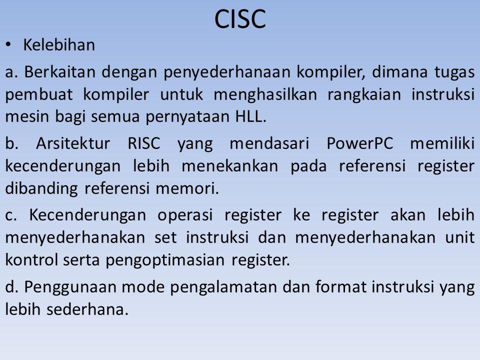 CISC Kelebihan.