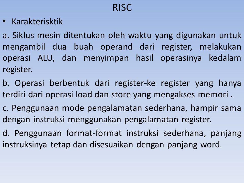 RISC Karakterisktik.