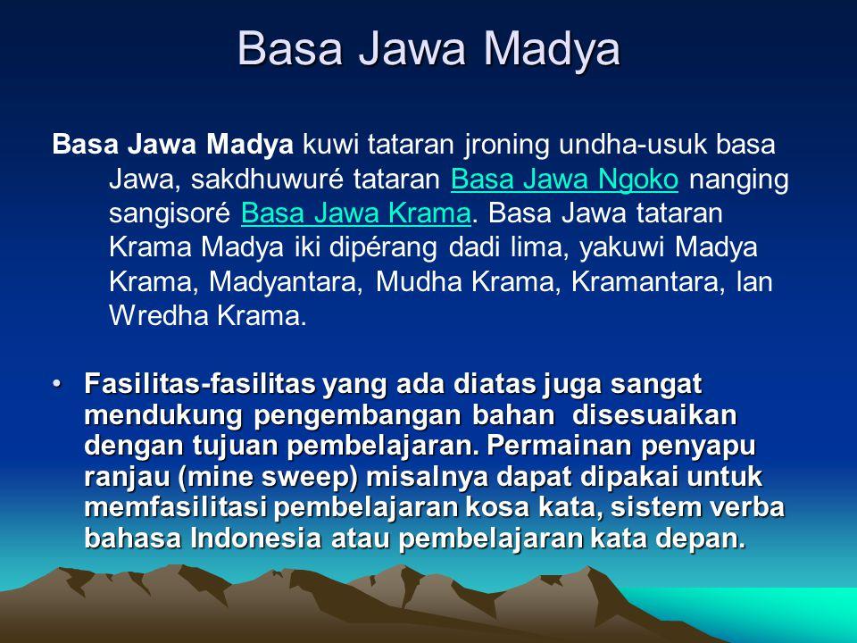 Basa Jawa Madya