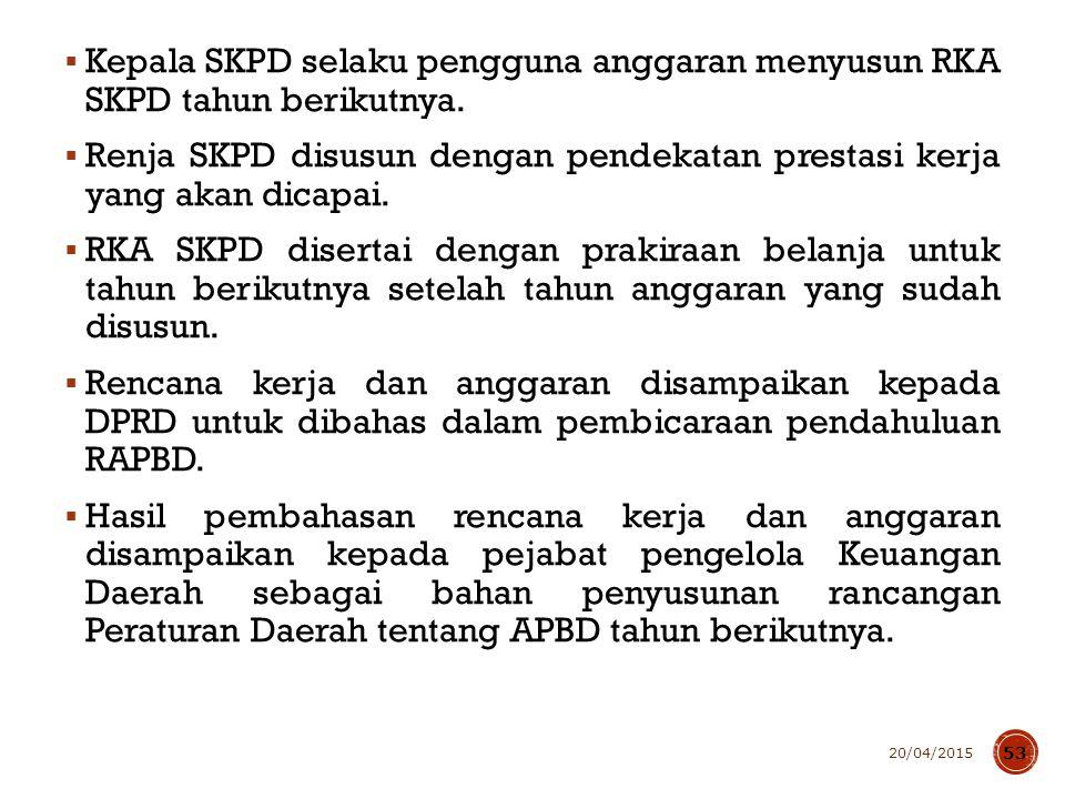 Pemerintah Daerah menyampaikan kebijakan umum APBD tahun anggaran berikutnya sejalan dengan RKPD kepada DPRD selambat-lambatnya bulan Juni tahun berjalan.