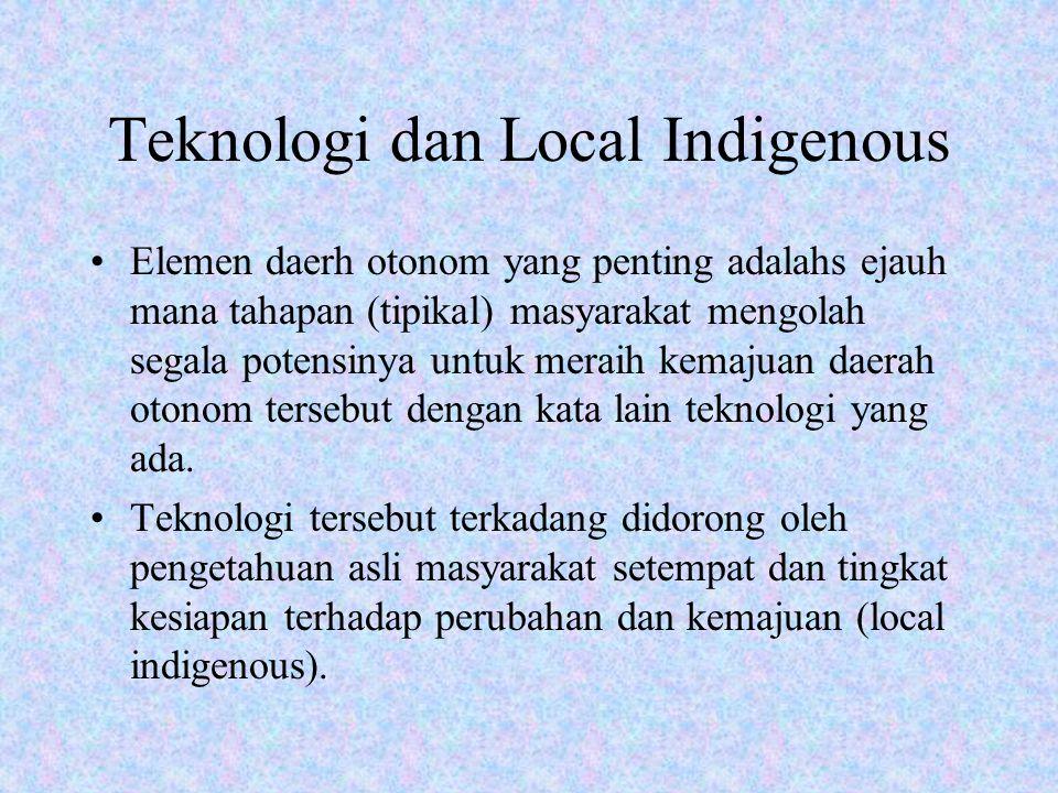 Teknologi dan Local Indigenous