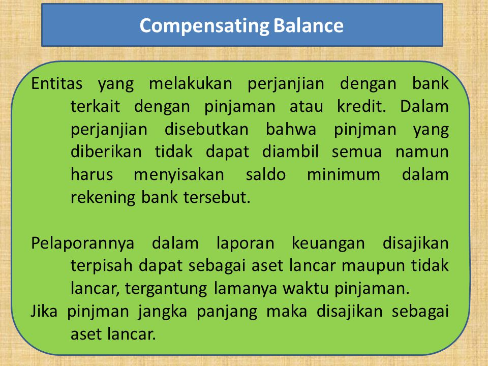 Compensating Balance