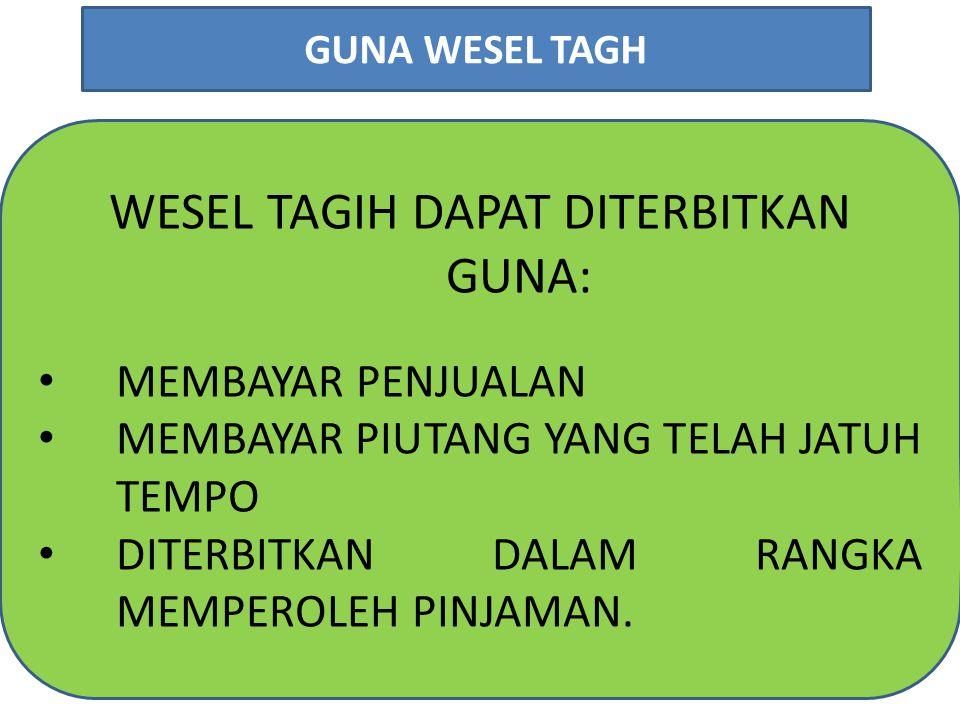 WESEL TAGIH DAPAT DITERBITKAN GUNA: