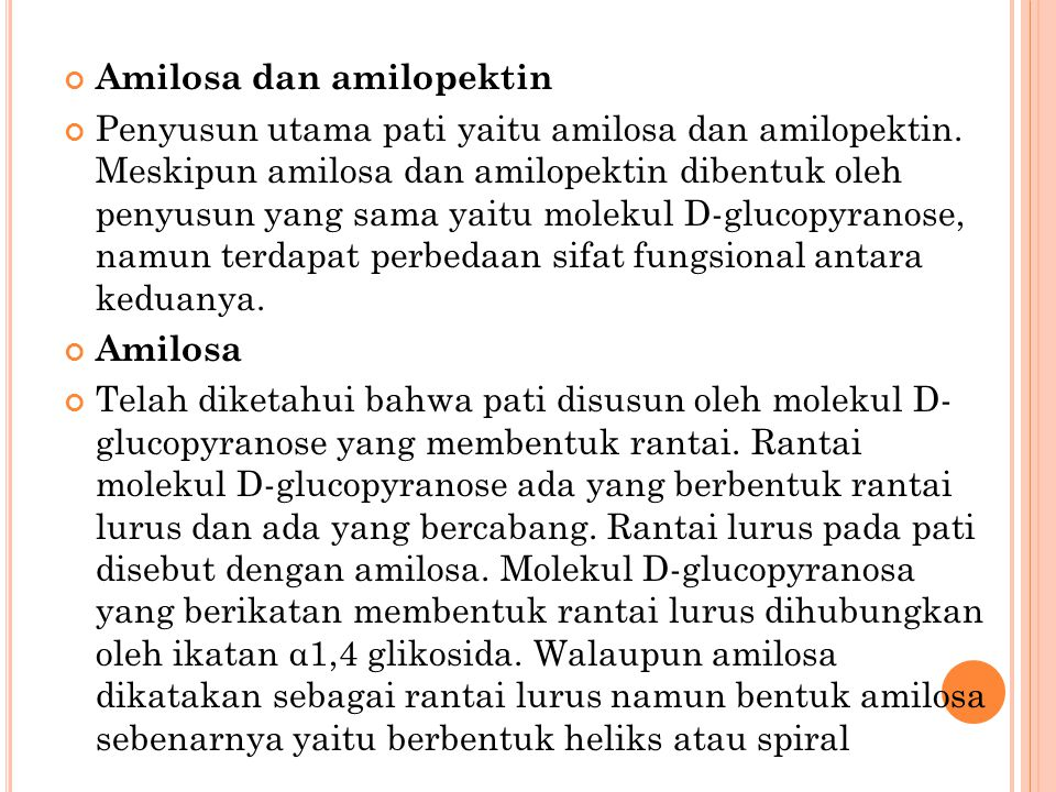 Amilosa dan amilopektin