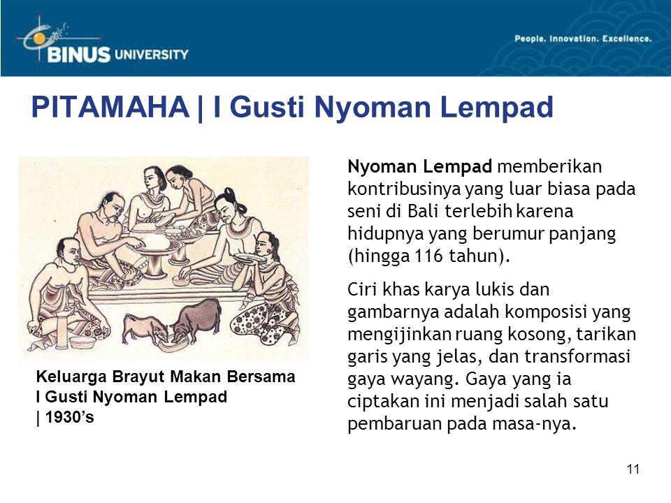 PITAMAHA | I Gusti Nyoman Lempad