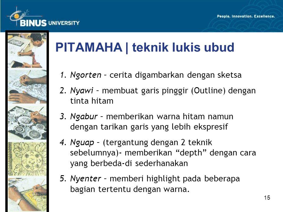 PITAMAHA | teknik lukis ubud