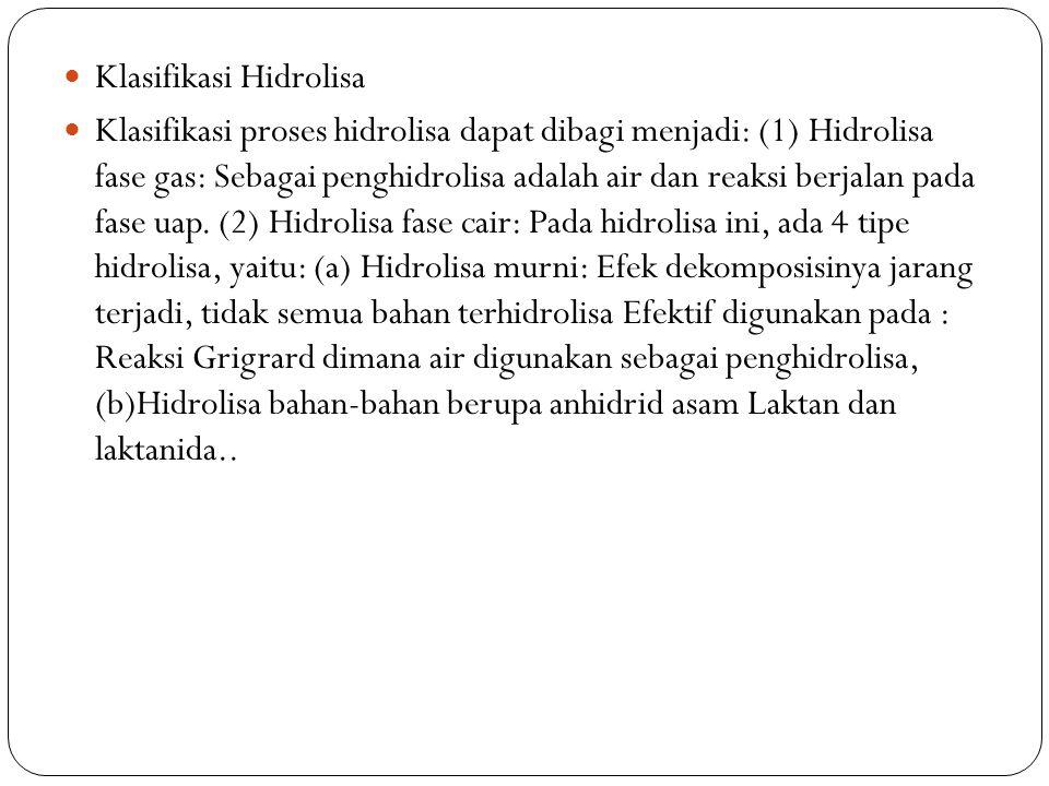 Klasifikasi Hidrolisa