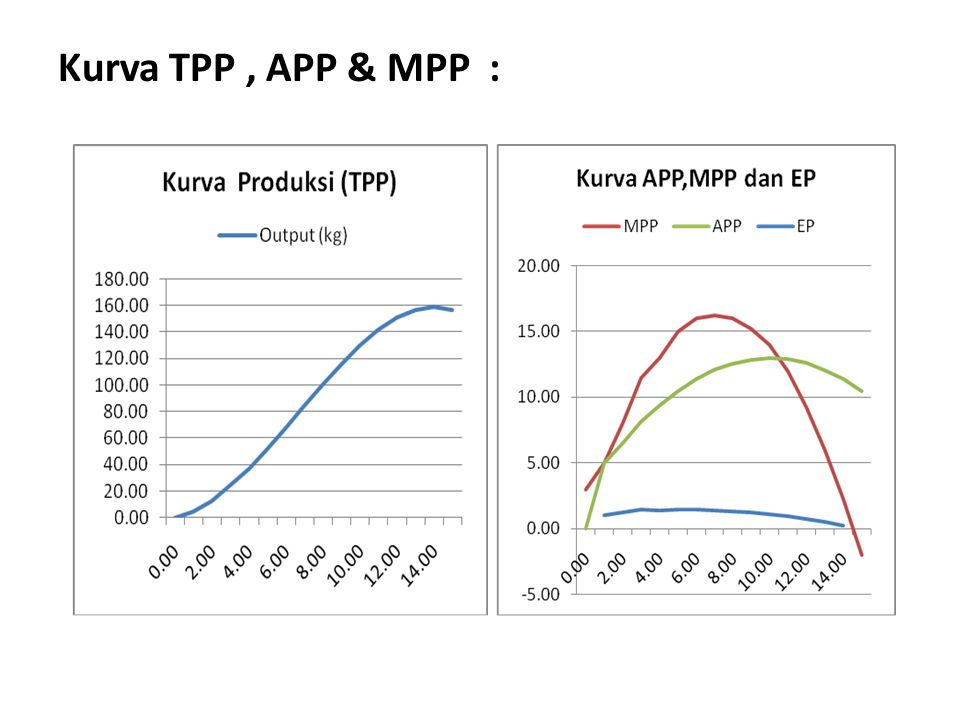 Kurva TPP , APP & MPP :