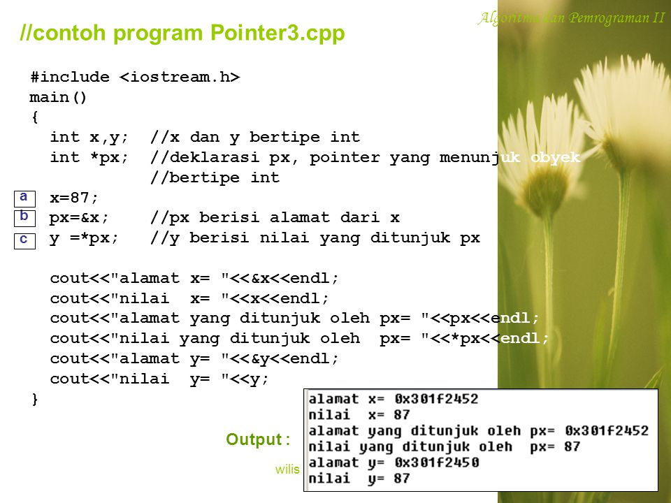 //contoh program Pointer3.cpp