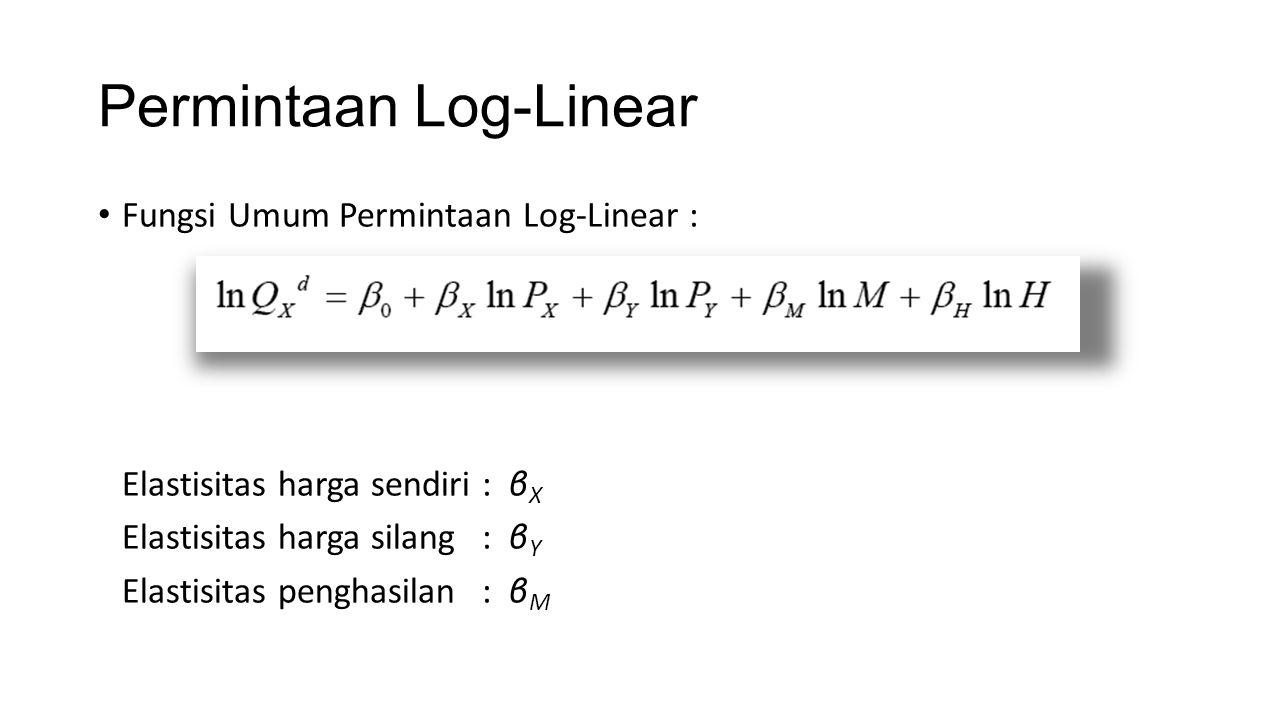Permintaan Log-Linear