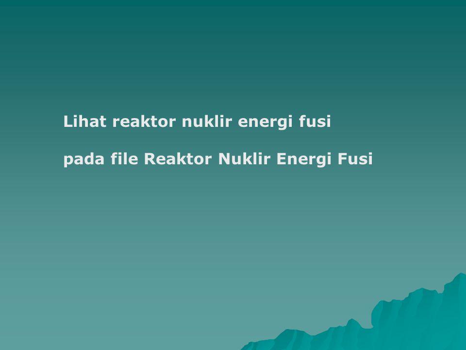 Lihat reaktor nuklir energi fusi