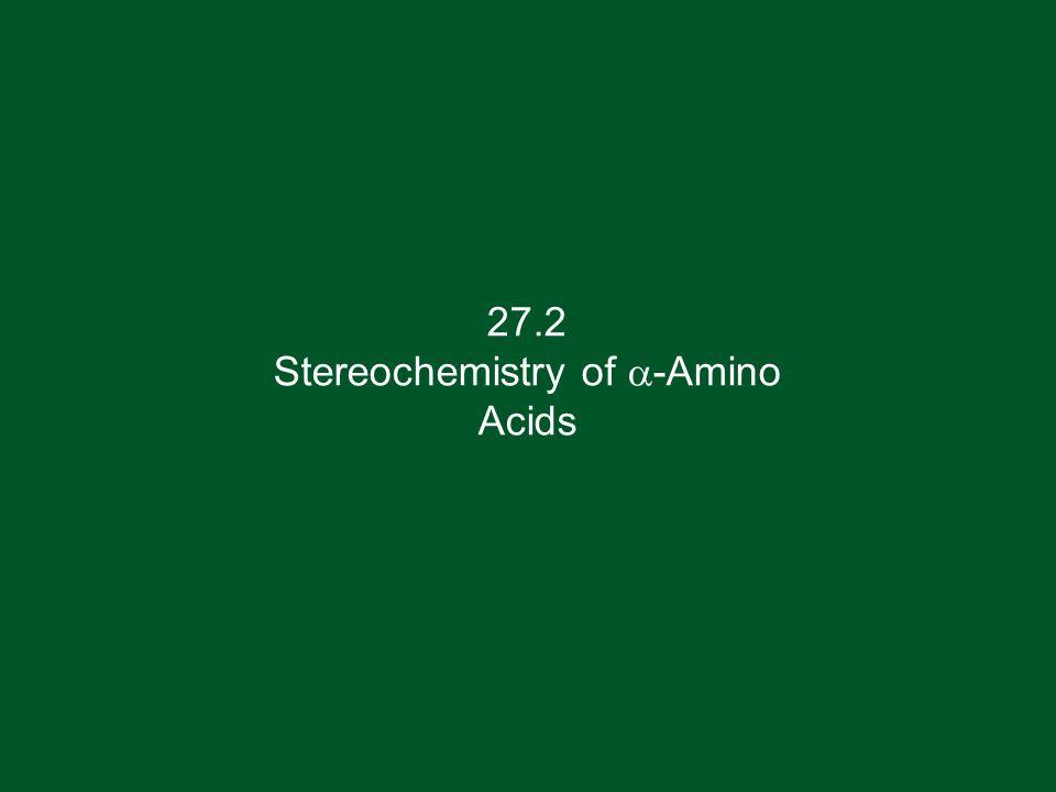 27.2 Stereochemistry of a-Amino Acids