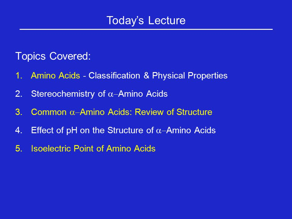 Today's Lecture Topics Covered: