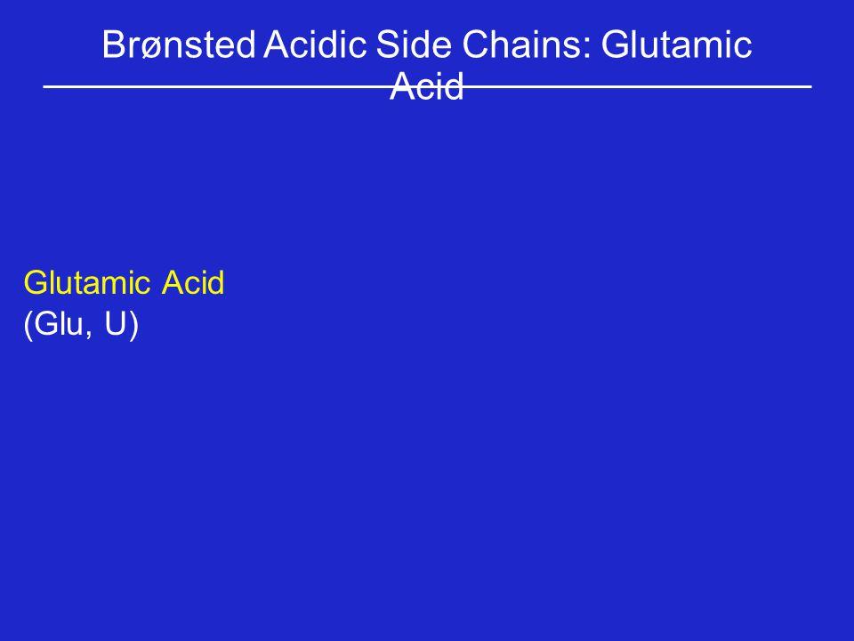 Brønsted Acidic Side Chains: Glutamic Acid