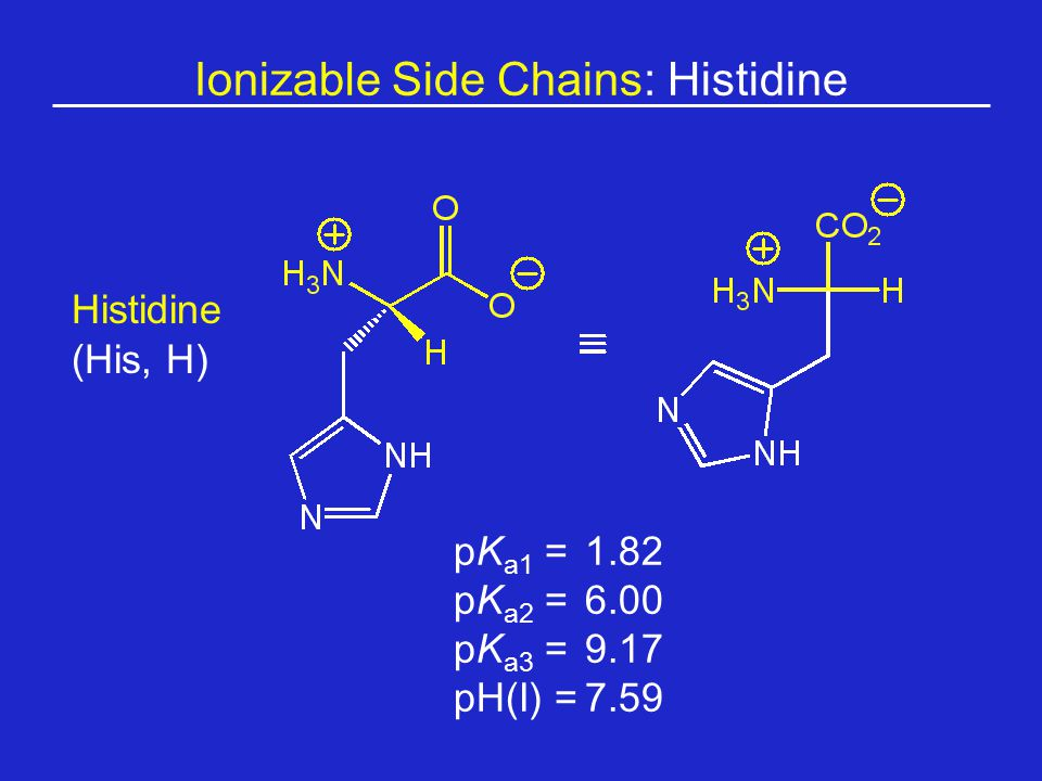 Ionizable Side Chains: Histidine