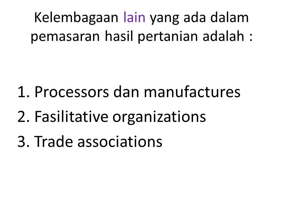 Kelembagaan lain yang ada dalam pemasaran hasil pertanian adalah :
