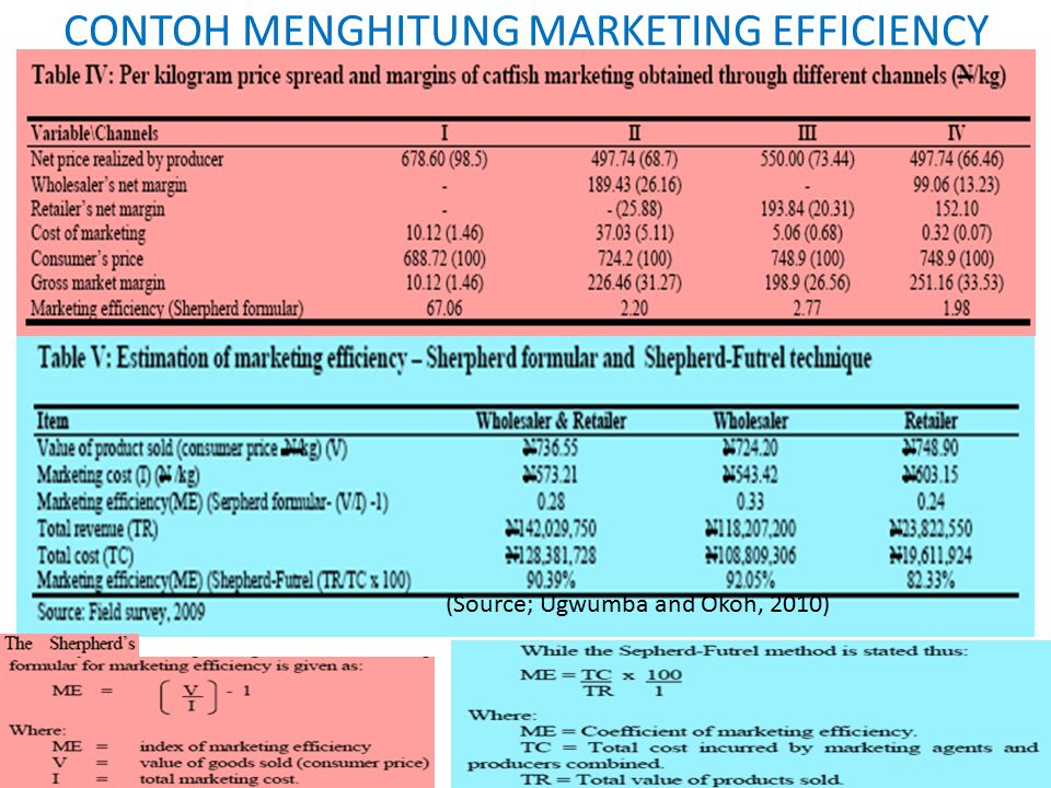 CONTOH MENGHITUNG MARKETING EFFICIENCY