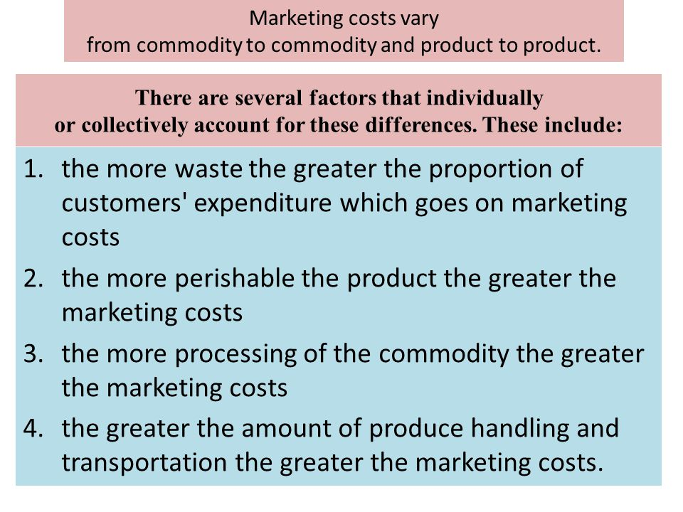 from commodity to commodity and product to product.