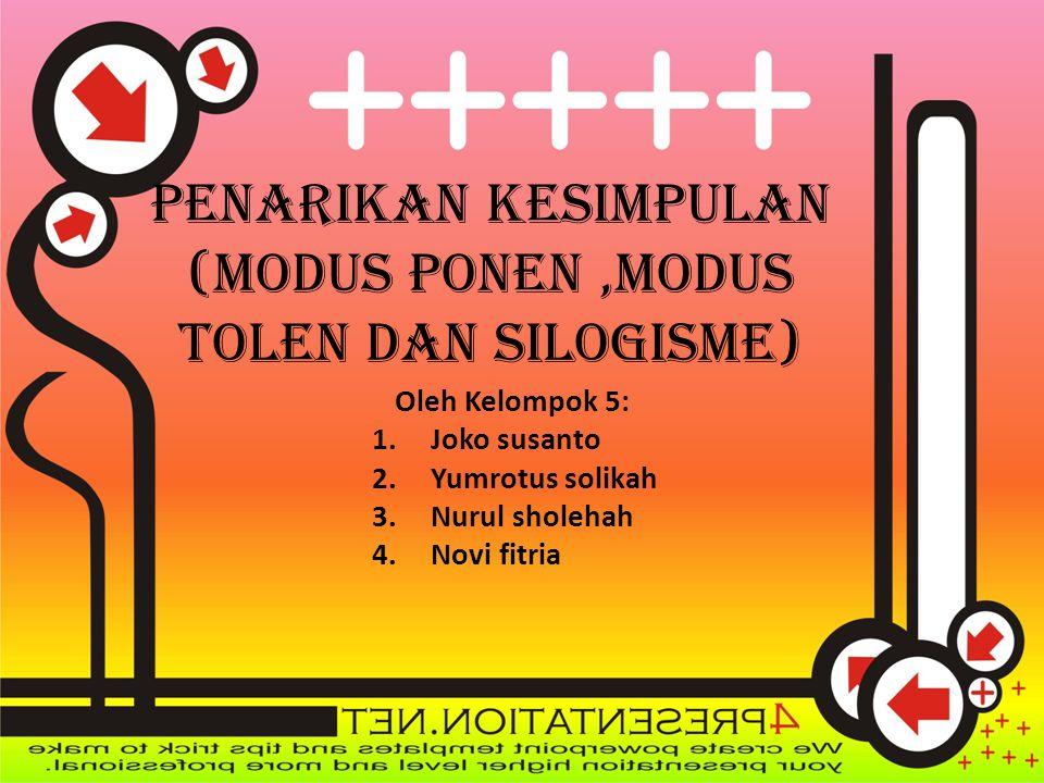Penarikan kesimpulan (MODUS PONEN ,MODUS TOLEN DAN SILOGISME)