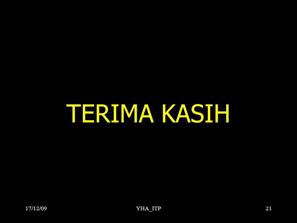 TERIMA KASIH 17/12/09 YHA_ITP