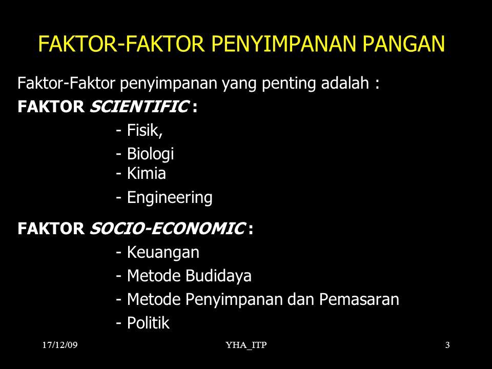 FAKTOR-FAKTOR PENYIMPANAN PANGAN