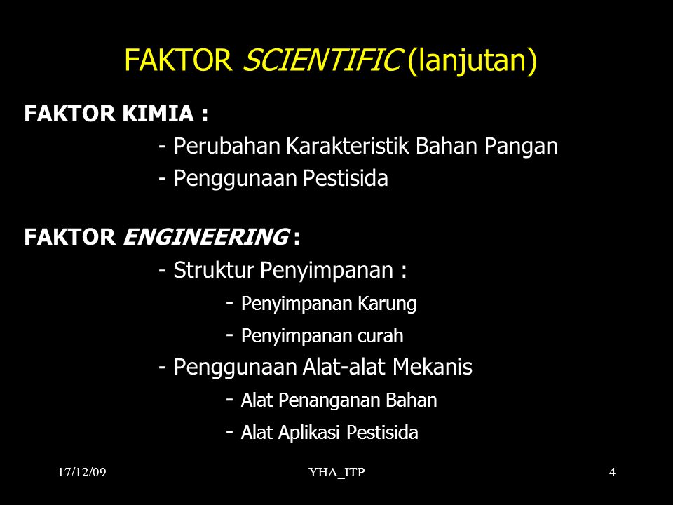 FAKTOR SCIENTIFIC (lanjutan)