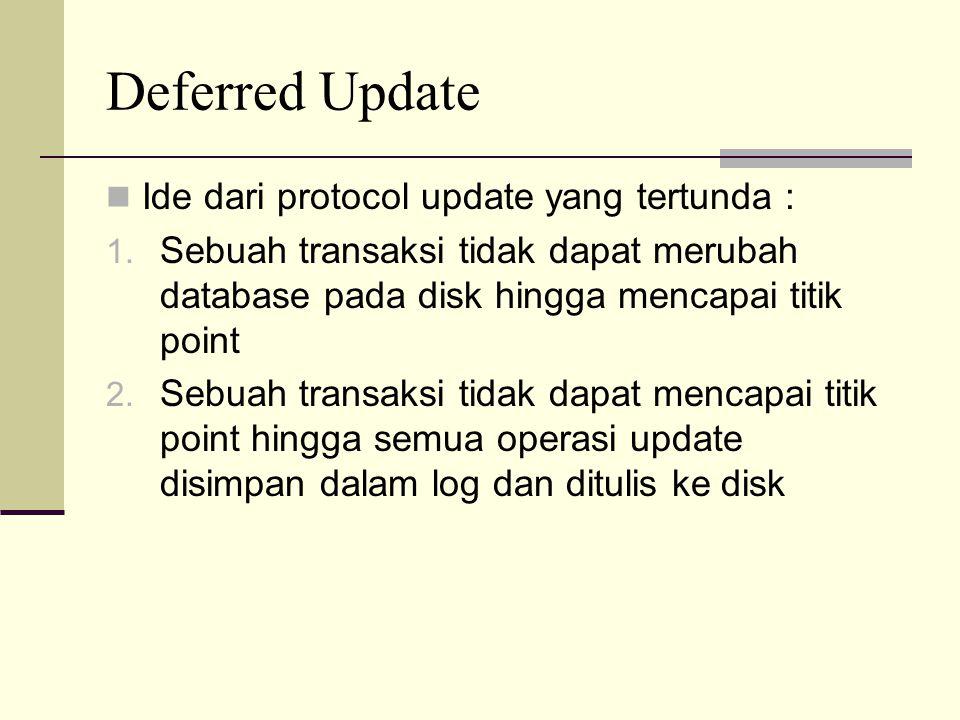 Deferred Update Ide dari protocol update yang tertunda :