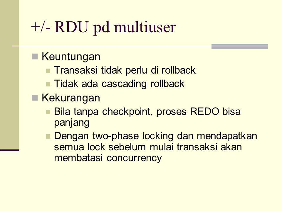 +/- RDU pd multiuser Keuntungan Kekurangan