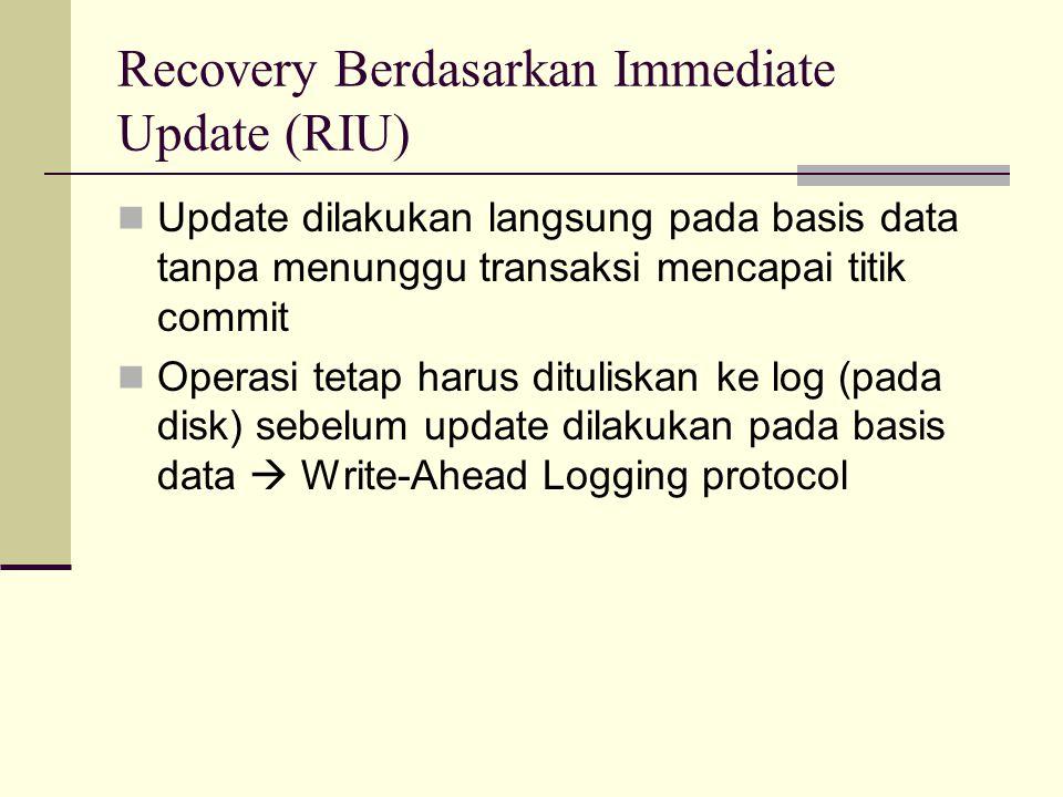 Recovery Berdasarkan Immediate Update (RIU)