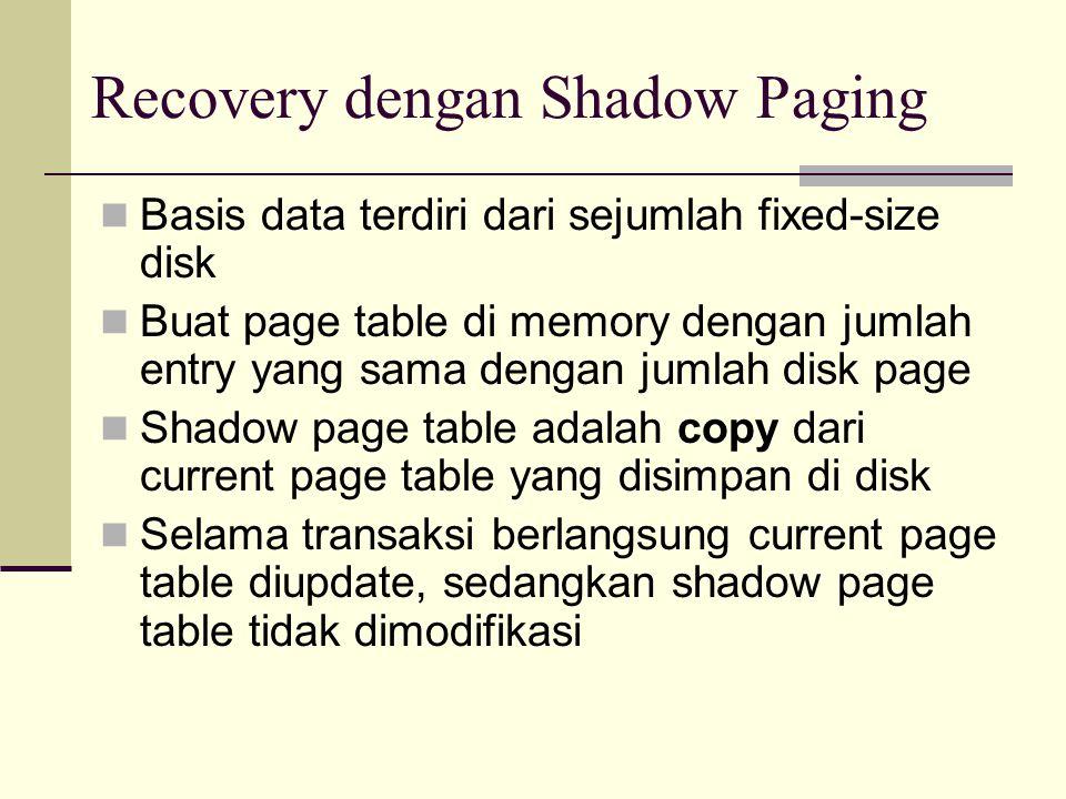 Recovery dengan Shadow Paging
