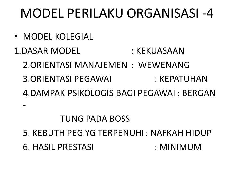 MODEL PERILAKU ORGANISASI -4