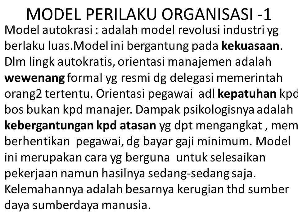 MODEL PERILAKU ORGANISASI -1