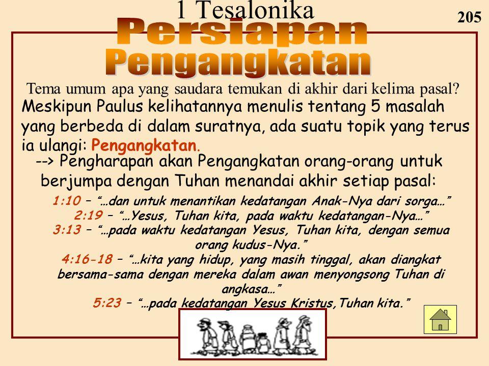 1 Tesalonika Persiapan Pengangkatan 205