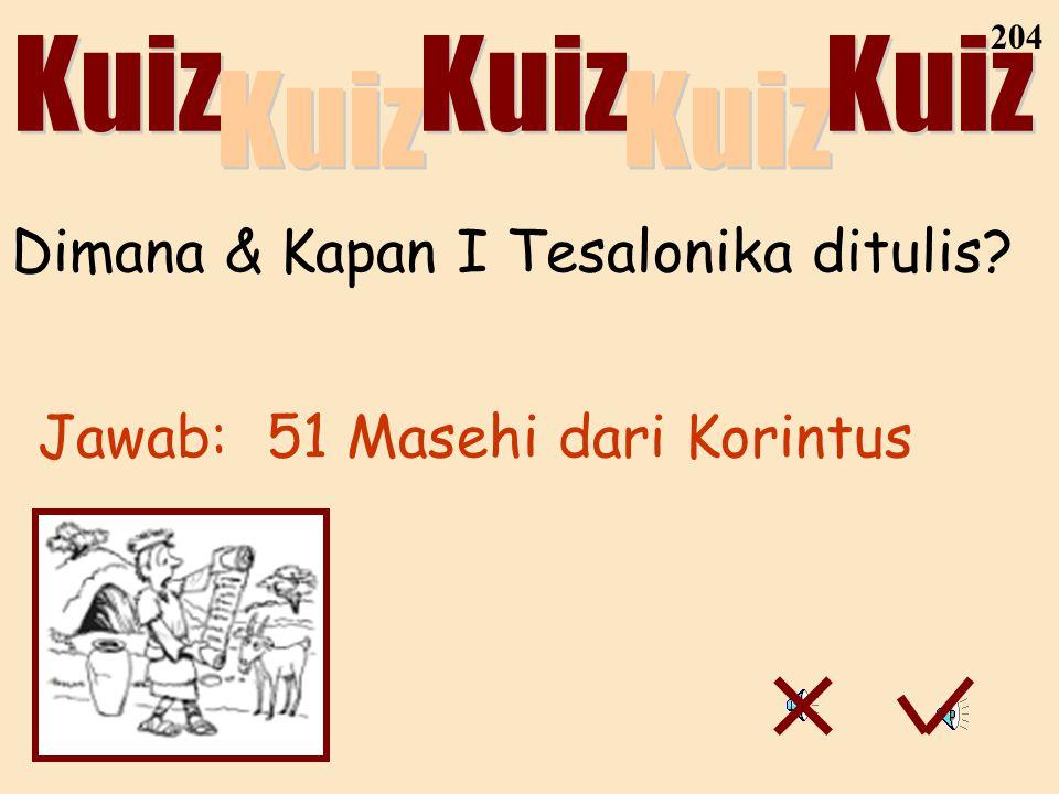Dimana & Kapan I Tesalonika ditulis