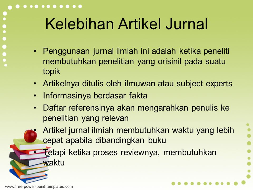 Kelebihan Artikel Jurnal