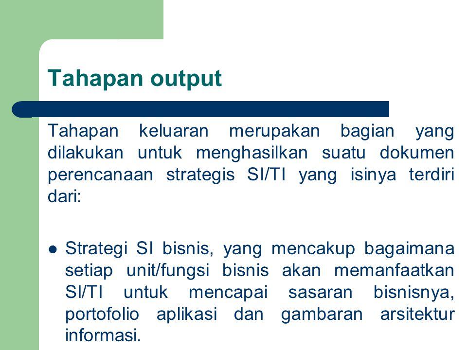 Tahapan output