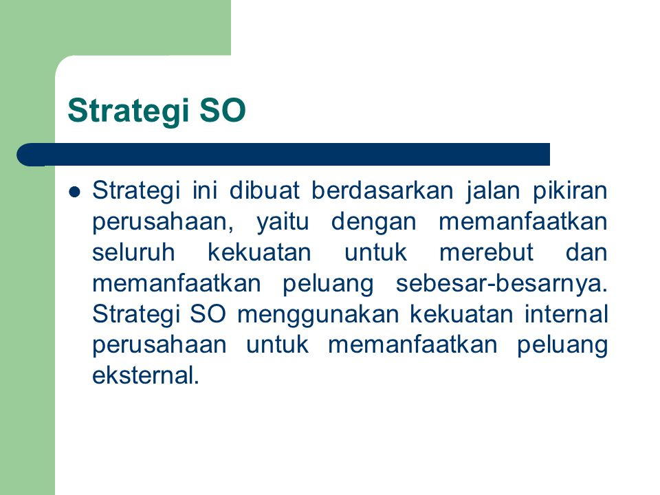 Strategi SO