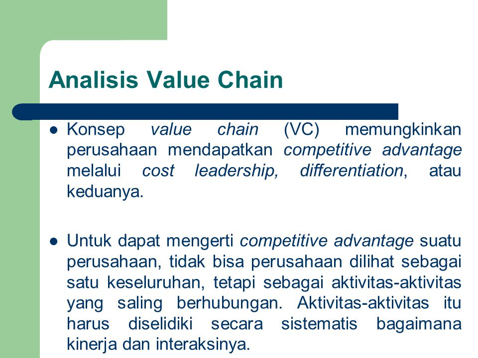 Analisis Value Chain
