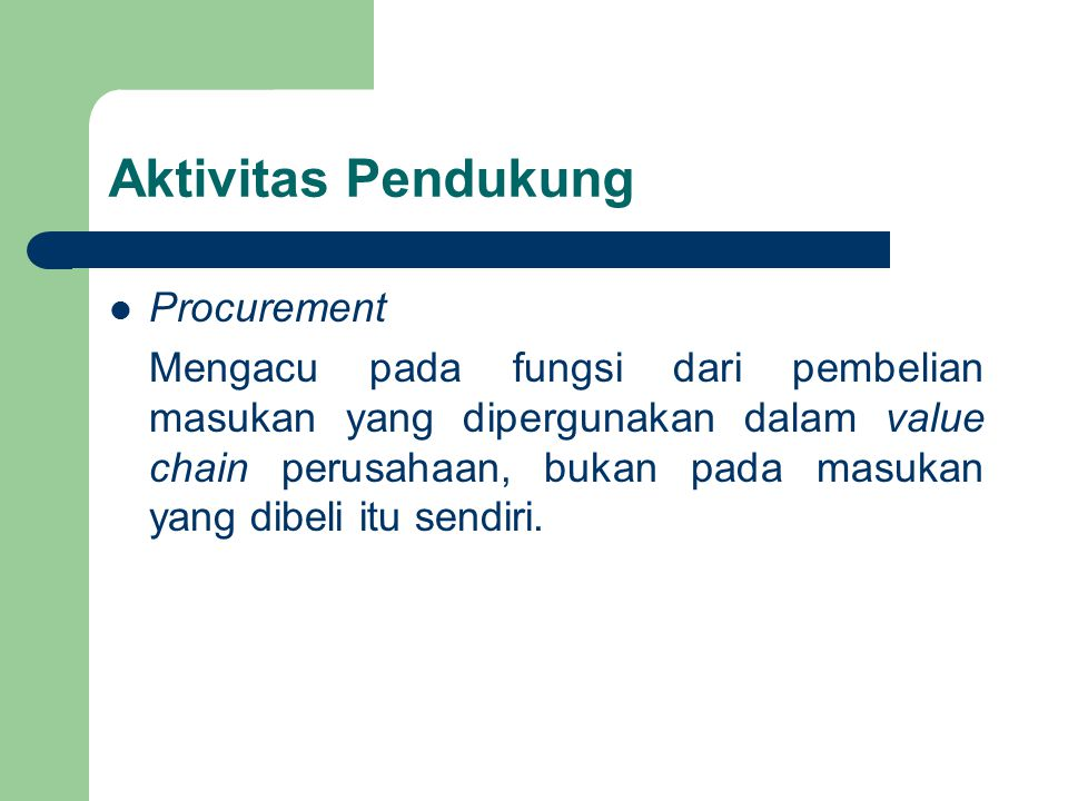 Aktivitas Pendukung Procurement