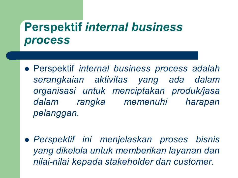 Perspektif internal business process